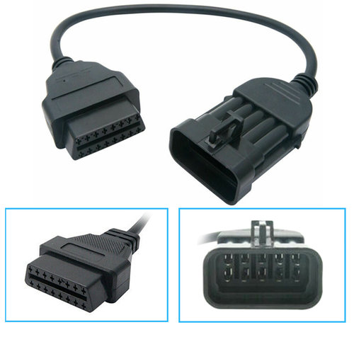 G34 Opel Vauxhall 10 Pin OBD Zu 16 Pin obd2 Kabel OBDII Adapter Diagnose Stecker