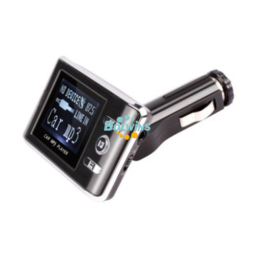 E01 Auto KFZ MP3 Player FM Transmitter USB SD TF Slot + Fernbedienung