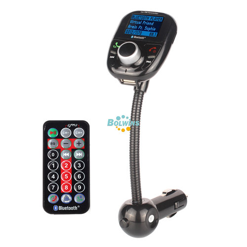 F01 LCD KFZ MP3 Player FM Transmitter Bluetooth Freisprechanlage TF USB Aufladen